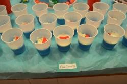 Fish Bowls - blue jello, whipped cream and a swedish fish